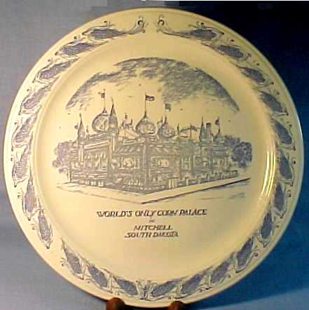 Vernon Kilns Corn Palace Plate in Mitchell, South Dakota