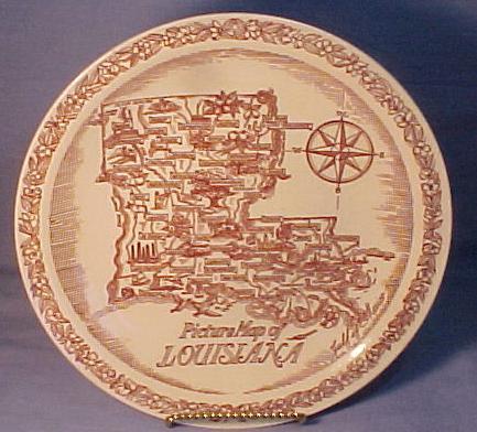 Vernon Kilns Louisiana Map State Plate