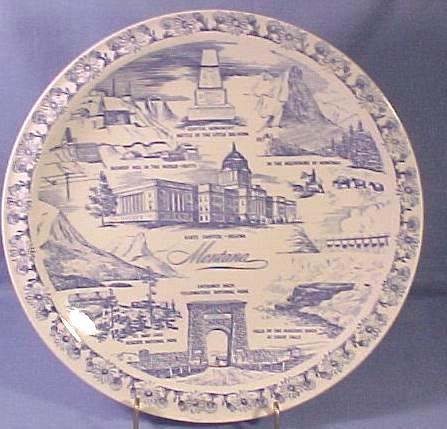 Vernon Kilns Montana State Plate