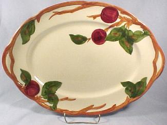 Franciscan Apple 14\  Oval Platter - USA & Franciscan Dinnerware - Apple Desert Rose Ivy Meadow Rose - Sets ...