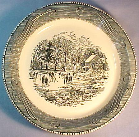 "Currier & Ives Early Winter 10"" Pie Baker"