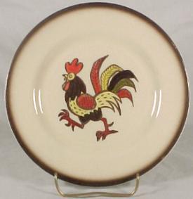 Metlox Red Rooster 7-1/2  Salad Plate & Metlox Dinnerware - Red Rooster California u0026 Homestead Provincial ...