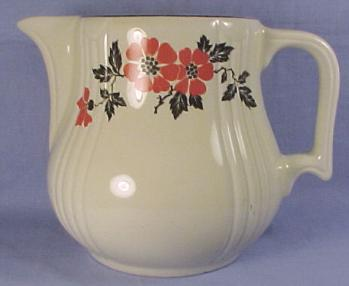 Hall Red Poppy Radiance Jug & Hall Dinnerware - Jewel Tea Orange Poppy Rose Parade and more ...