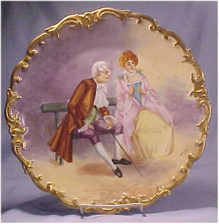 Limoges Coronet 10-1/2 Charger Courting Couple Dubois