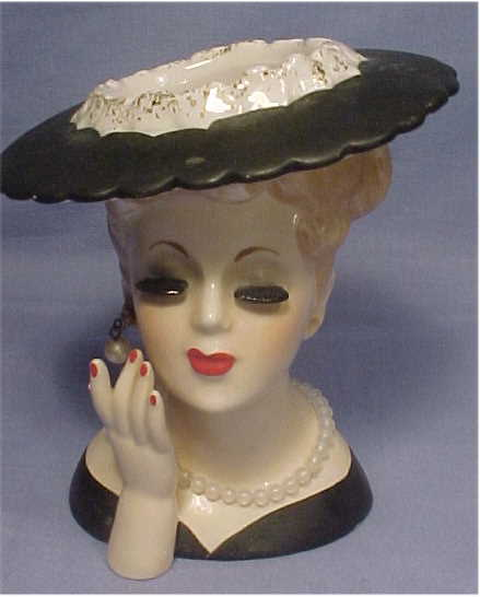 Lady Head Vases By Inarco Enesco Holt Howard And More