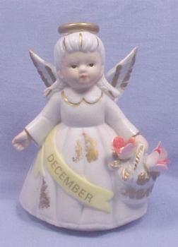Lefton Bisque Birthday Angel #6800 - December