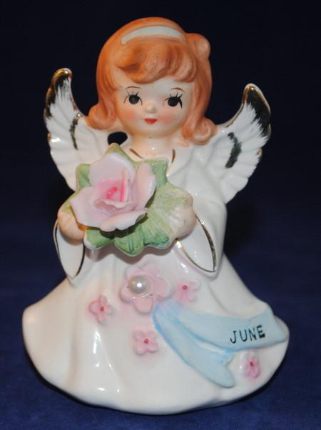 Lefton Jeweled Birthday Angel #6224 - June