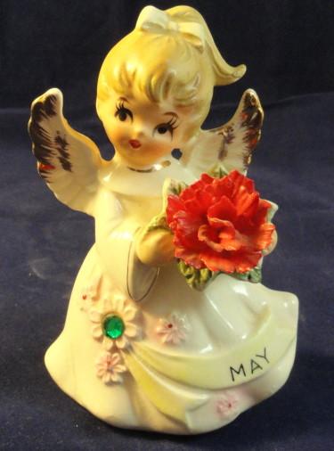 Lefton Jeweled Birthday Angel #6224 - April
