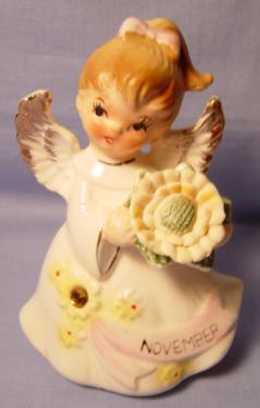 Lefton Jeweled Birthday Angel #6224 - November