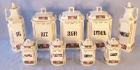 Hutschenreuther Czechoslovakian 9 pc. Spice Set -
