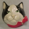Stringholder - 1960s Black & White Cat by Babbacombe