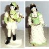 Ceramics Arts Cinderella and Prince Figurine Set