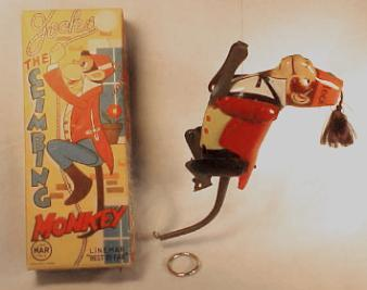 JOCKO the Climbing Monkey; with box