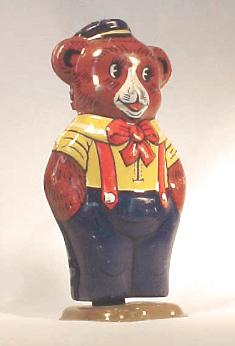 Chein & Co. Tin Windup Toy Twisting wind-up bear