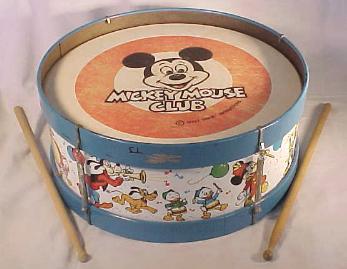 Disneyana: Mickey Mouse Club Drum with sticks