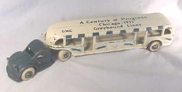 Toy Cast Iron Greyhound Lines - A Century of Progress Bus