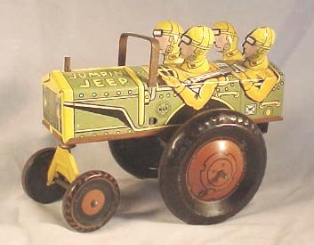 Marx Jumpin Jeep Tin Windup Toy
